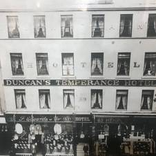 The Hotel in the 1800s, then known as Duncan's Temperance Hotel